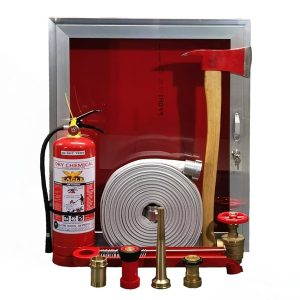 DDC Coolmakers and Powerbuilders Corp Fire Hose Cabinet Set
